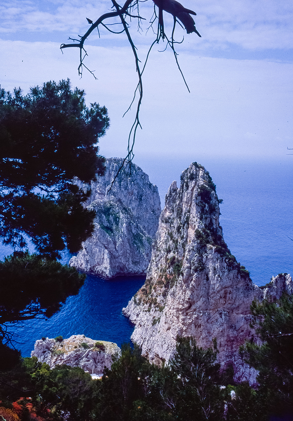 rocks and water, and image from the island of Capri