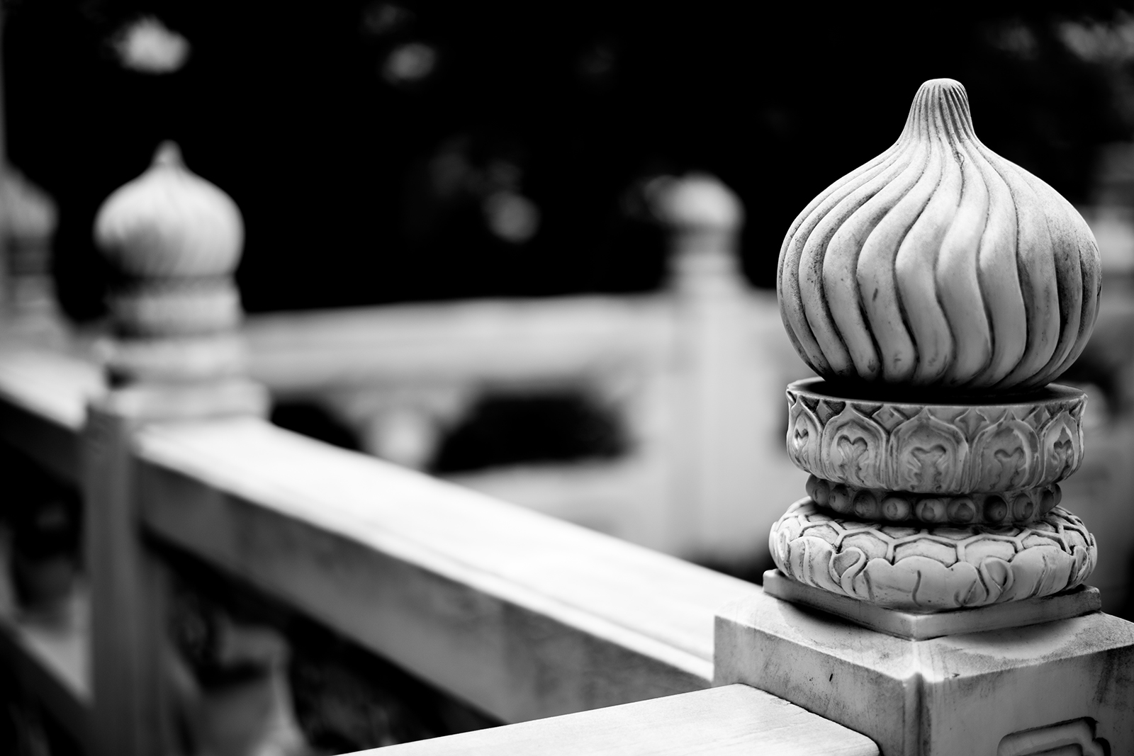 temple handrails in Shanghai